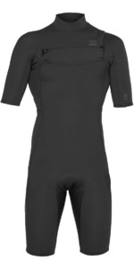 2019 Billabong Mens 2mm Furnace Absolute GBS Chest Zip Shorty WEtsuit Black / Silver N42M20
