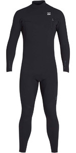 2019 Billabong Mens 3/2mm Pro Series Chest Zip Wetsuit Black N43M01