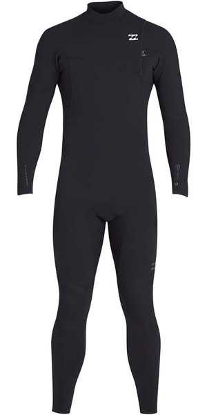 2019 Billabong Mens 3/2mm Pro Series Chest Zip Wetsuits Black N43M01