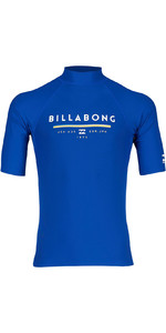 2019 Billabong Mens Unity Short Sleeve Rash Vest Royal N4MY01