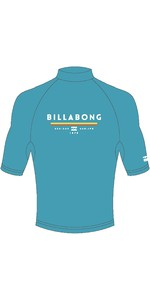 2019 Billabong Mens Unity Short Sleeve Rash Vest Aqua Blue N4MY01