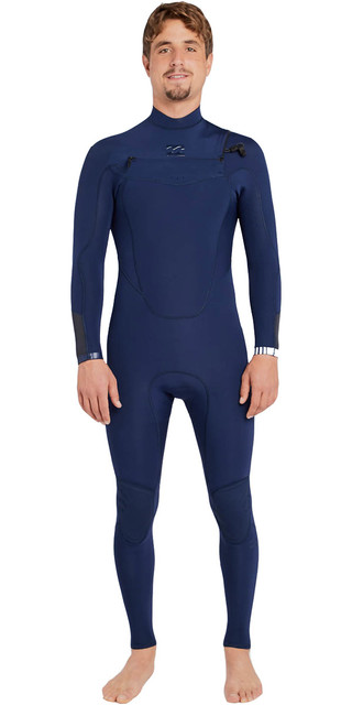 2018 Billabong Absolute Comp 4/3mm Chest Zip Wetsuit Navy F44m21 Picture