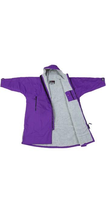 2020 Dryrobe Advance Long Sleeve Premium Outdoor Change Robe / Poncho DR104 - Purple / Grey