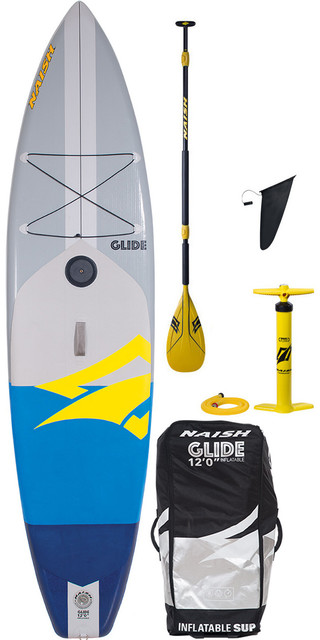 2018 Naish One Glide Crossover 12'0 Inflatable Stand Up Paddle Board Package Picture