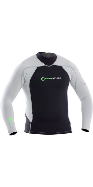 2018 Neil Pryde Elite Firewire 1mm Long Sleeve Top Black / Silver SAB607