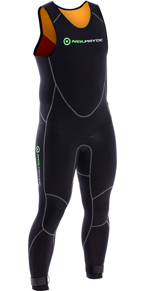 2018 Neil Pryde Junior Elite Firewire 4/3mm Long John Wetsuit Black SAB604