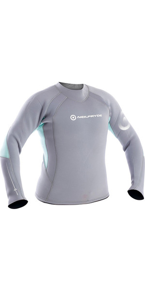2018 Neil Pryde Womens Elite Firewire 3mm Long Sleeve Top Saphire / Glacier SAB603