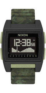 2021 Nixon Base Tide Pro Surf Watch 1695-00 - Green Camo