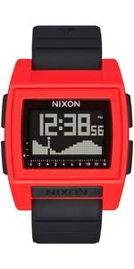 2021 Nixon Base Tide Pro Surf Watch 209-00 - Red / Black
