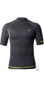 2021 Nookie 1mm Short Sleeve TI Neoprene Vest NE12 - Grey / Yellow