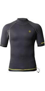 2020 Nookie 1mm Short Sleeve TI Neoprene Vest NE12 - Grey / Yellow