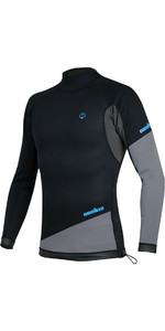 2020 Nookie Ti 1mm Neoprene Long Sleeve Vest Top Black / Grey / Cyan NE10