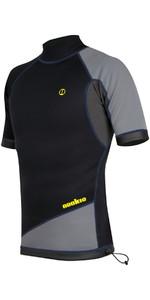 2019 Nookie Ti 1mm Neoprene Short Sleeve Vest Top Black / Grey / Yellow NE11