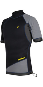 2020 Nookie Ti 1mm Neoprene Short Sleeve Vest Top Black / Grey / Yellow NE11