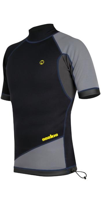 2020 Nookie Ti 1mm Neoprene Short Sleeve Vest Top Black / Grey / Yellow NE11