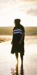 2019 Northcore Beach Basha Changing Robe Blue Stripes NOCO24K