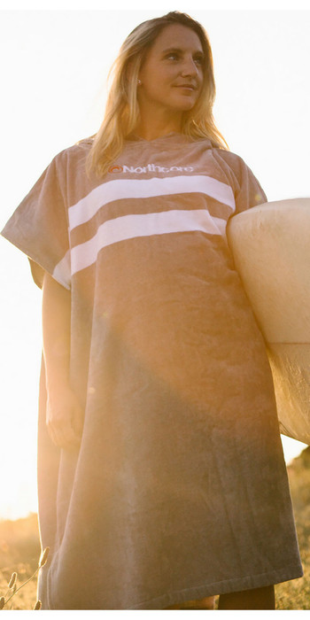 2021 Northcore Beach Basha Change Robe Grey Stripes NOCO24L