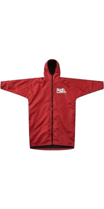 2021 Northcore Beach Basha Pro 4 Season Change / Poncho Robe RED NOCO24J