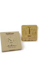2020 Northcore Wall Mounted Bamboo Tide Clock NOCO88B