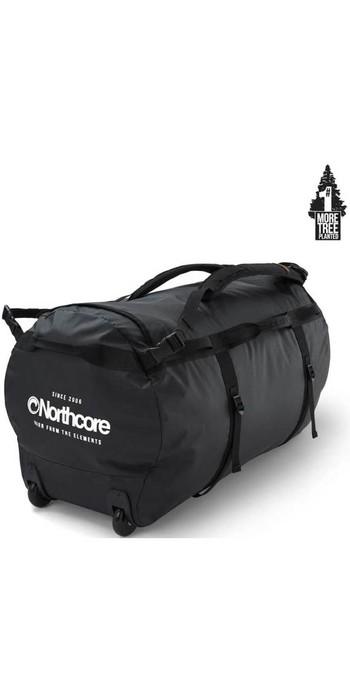 2020 Northcore Wheeled Duffel Bag 110L NOCO123DC - Black / White