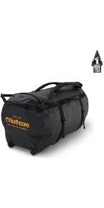2020 Northcore Wheeled Duffel Bag 110L NOCO123DB - Black / Orange