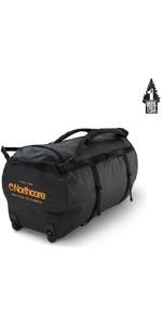 2021 Northcore Wheeled Duffel Bag 110L NOCO123DB - Black / Orange