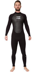2019 Billabong Intruder 3/2mm GBS Back Zip Wetsuit BLACK 043M15
