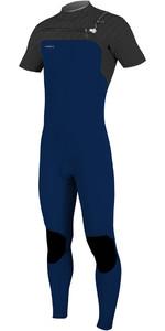 2019 O'Neill Mens Hyperfreak 2mm Chest Zip GBS Short Sleeve Wetsuit Abyss / Graphite 5066