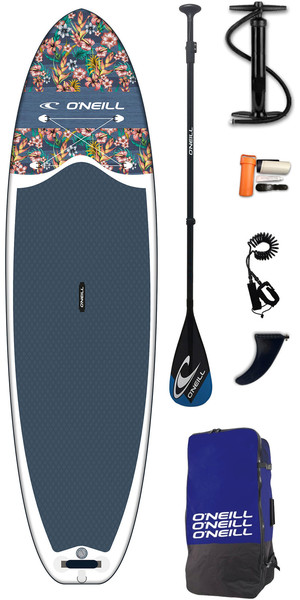 2019 O'Neil Lifestyle 10'6 Inflatable SUP Board, Paddle, Pump, Bag & Leash Flowers