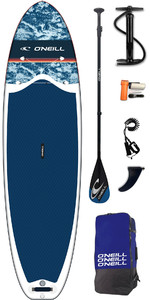 2019 O'Neill Lifestyle 10'6 Inflatable SUP Board, Paddle, Pump, Bag & Leash Navy