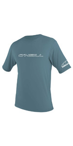 2018 O'Neill Basic Skins Short Sleeve Rash Tee DUSTY BLUE 3402