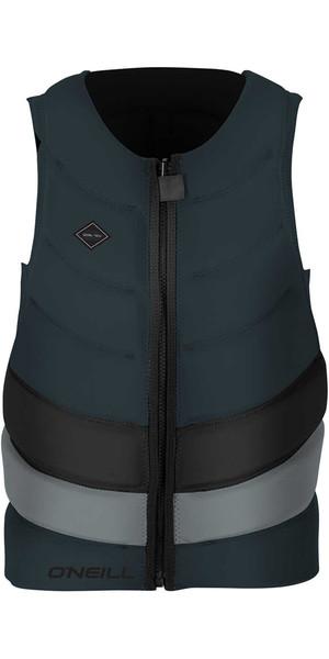 2018 O'Neill Gooru Tech Front Zip Comp Impact Vest SLATE / COOL GREY 4916EU
