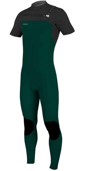 2018 O'Neill Hyperfreak 2mm Chest Zip GBS Short Sleeve Wetsuit REEF / BLACK 5066 SECOND