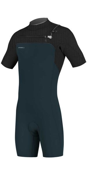 2018 O'Neill Hyperfreak 2mm Chest Zip GBS Shorty Wetsuit SLATE / BLACK 5036