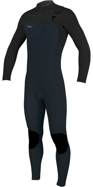 2018 O'Neill Hyperfreak 4/3mm Chest Zip GBS Wetsuit SLATE / BLACK 5001