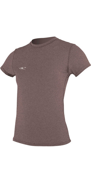 2018 O'Neill Womens Hybrid Short Sleeve Surf Tee PEPPER 4675