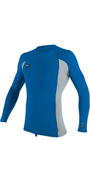 2018 O'Neill Premium Skins Long Sleeve Rash Vest OCEAN / COOL GREY 4170B