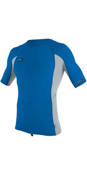 2018 O'Neill Premium Skins Short Sleeve Rash Vest OCEAN / COOL GREY 4169B