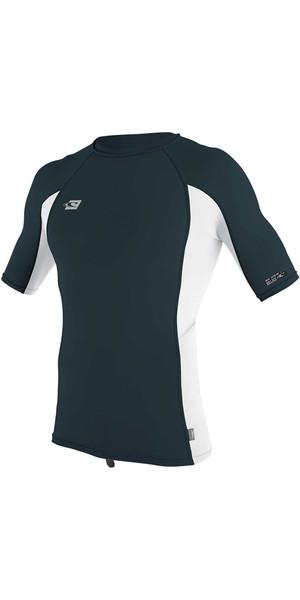2018 O'Neill Premium Skins Short Sleeve Rash Vest SLATE / WHITE 4169B