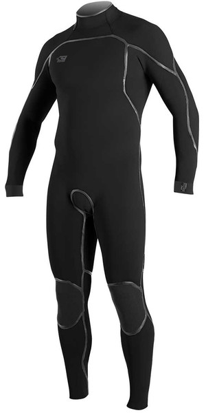 2018 O'Neill Psycho One 3/2mm Back Zip Wetsuit BLACK 4964