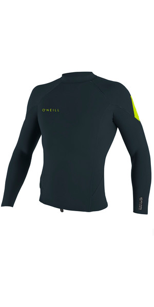 2018 O'Neill Reactor II 1.5mm Neoprene Long Sleeve Top SLATE / DAYGLO 5080 SECOND