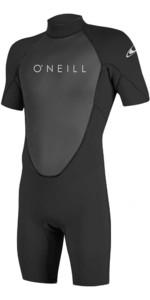2019 O'Neill Reactor II 2mm Back Zip Shorty Wetsuit BLACK 5041