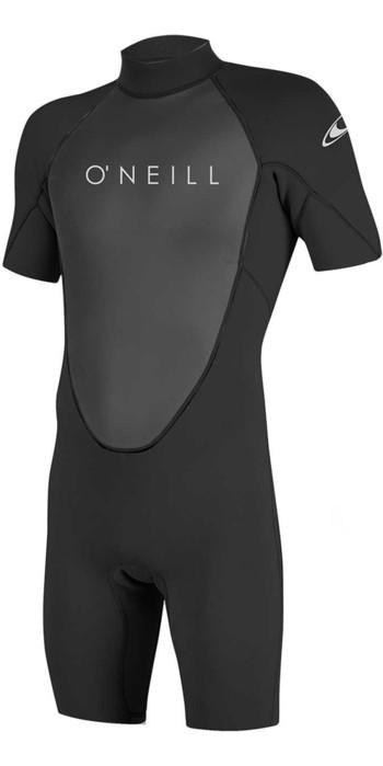 2021 O'Neill Reactor II 2mm Back Zip Shorty Wetsuit BLACK 5041