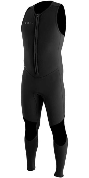 2021 O'Neill Reactor II 1.5mm Neoprene Front Zip Long John Wetsuit BLACK 5047