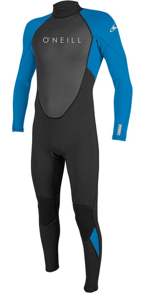 2018 O'Neill Reactor II 3/2mm Back Zip Wetsuit BLACK / OCEAN 5040