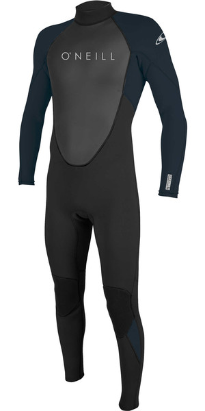2018 O'Neill Reactor II 3/2mm Back Zip Wetsuit BLACK / SLATE 5040