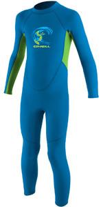 2018 O'Neill Toddler Reactor 2mm Back Zip Wetsuit BRITE BLUE / DAYGLO 4868