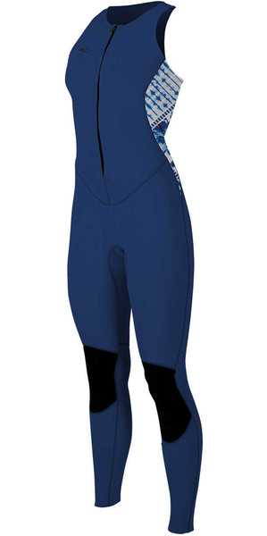 2018 O'Neill Womens Bahia 1.5mm Front Zip Long Jane NAVY / INDIGO 4860