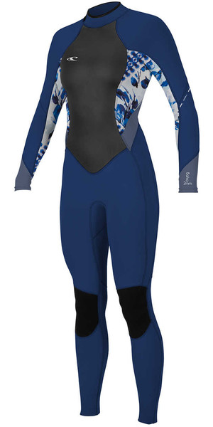 2018 O'Neill Womens Bahia 3/2mm Back Zip Wetsuit NAVY / INDIGO / MIST 4932