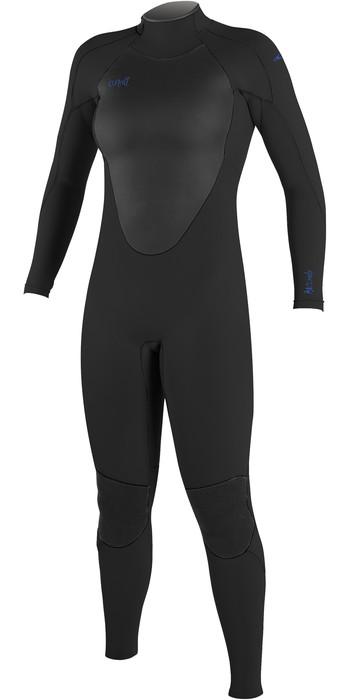 O'Neill Womens Epic 5/4mm Back Zip GBS Wetsuit 4218B - Black